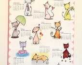 2018 Tea Towel Calendar - Cats