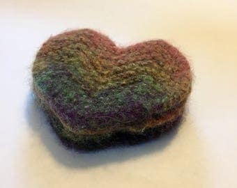 Felted Heart Coasters- Set of 4