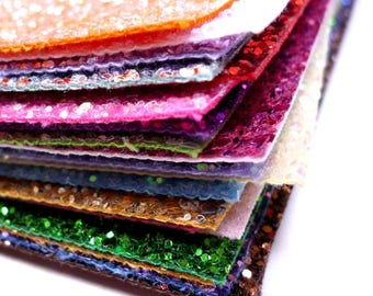 Chunky Glitter Sheets or Mini Rolls Choose from 24 colours