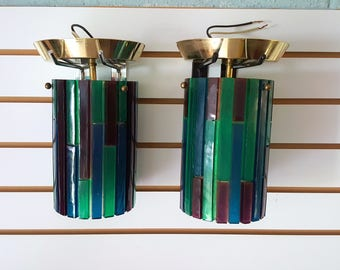 Vintage Colorful Moe Acrylic Wall Sconces Light Fixtures Mid Century Lighting Retro Green Blue Purple