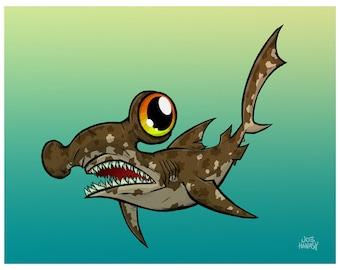 Hammerhead Shark 11 x 14 Print
