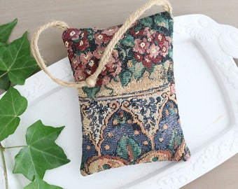 Garden Tapestry Lavender Sachet, Botanical Home Decor