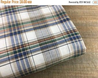 SALE- Fall Plaid Fabric-Rustic-Ligth Weight-Cotton Blend