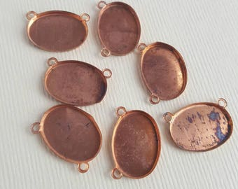Vintage copper cabochon settings