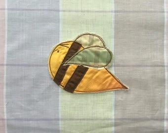 Honey Bee Patch, Appliquéd Embroidered Badge
