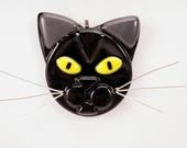 Special order Black cat yellow eyes