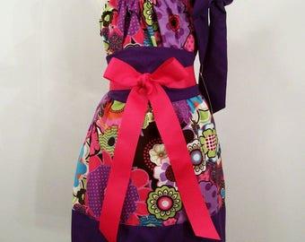 Girls Purple Pillowcase Party Dress,Girls Dress, Girls Clothing, Baby Girl Dress, Toddler girl Dress, Big Girl Dress, handmade, USA , #227