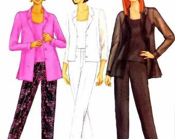 SALE Misses Shirt Caimsole Pants Butterick 6710 Sewing Pattern Size 6 - 8 - 10 Bust 30 1/2 - 31 1/2 - 32 1/2 UNcut