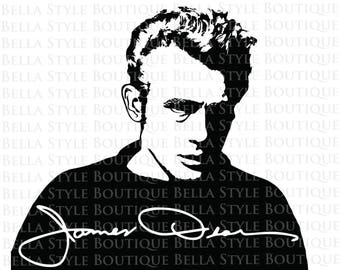 James Dean and Signature svg cut file