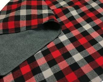 Baby Blanket Lumberjack Buffalo Plaid Red and Black Handmade