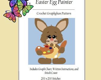 Easter Egg Painter - Crochet Graphghan Pattern