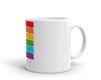 Pride Gay is Good Gay Equality Rainbow Mug made in the USA