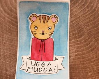 PegBuddies Postcard- Daniel Tiger Ugga Mugga