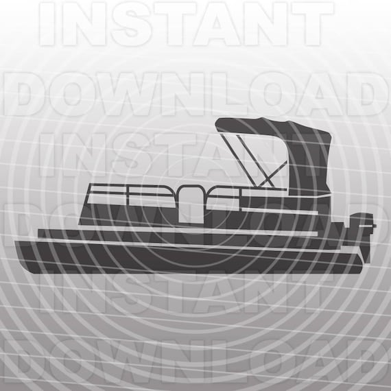 Pontoon Boat SVG FileLake Life SVG FileBoat SVG FileVector - Decals for pontoon boats