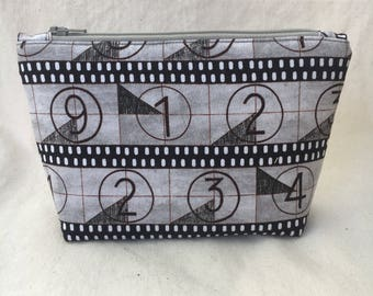 Movie Lovers Film Strip Zippered Pouch / Cosmetic Bag