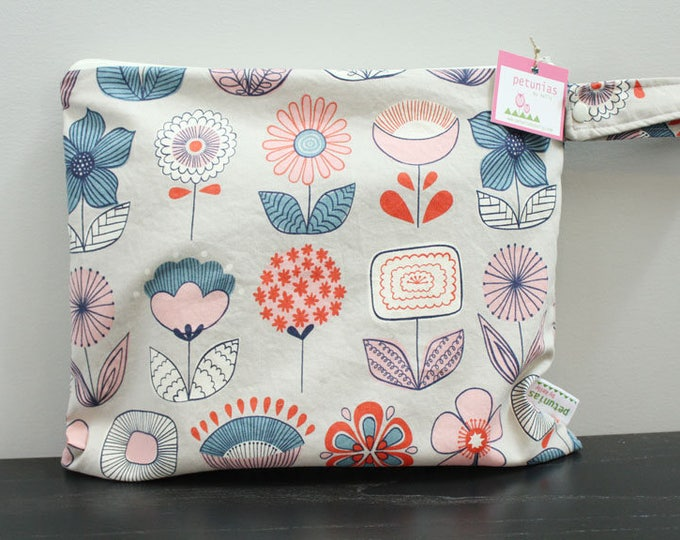 Wet Bag wetbag Diaper Bag ICKY Bag wet proof blush flower gym bag swim cloth diaper accessories zipper gift newborn baby kids beach bag