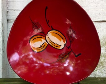 Lacquerware Bowl Japanese Mid Century by A Price
