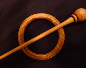 Shawl pin in Chestnut wood #2