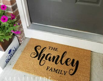 Custom Welcome Mat | Personalized Door Mat | Personalized Doormat | Custom Doormat | Custom Door Mat | Personalized Welcome Mat