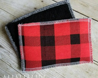 Washable Sponge | Buffalo Plaid | Unsponge | Reusable Sponges | Eco-friendly from green by mamamade | Set of 2 Unsponges