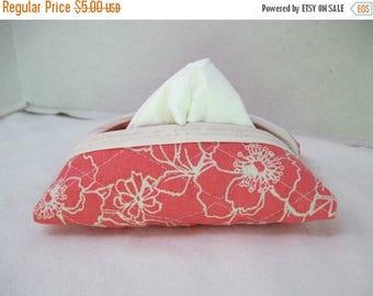 Flash Sale Quilted Tissue Holder Pocket Size Floral Pink