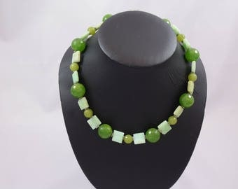 Green Agate, Lime Green Agate, Chrysophase, silver-tone, Sterling Silver toggle,