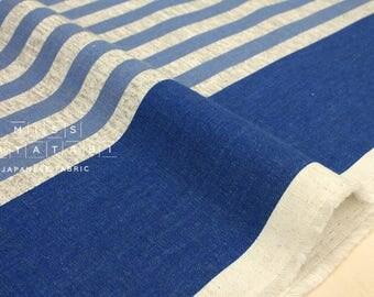 Japanese Fabric Kokka Kitchen Stripes - blue - 50cm