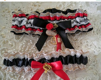 On Sale Special Edition-Satin Gun Enthusiast-Hunting- Garter-Second Amendment Rights-NRA- One of a Kind-1s-Fits 14-20 inches
