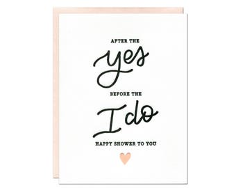 Happy Shower Letterpress Card