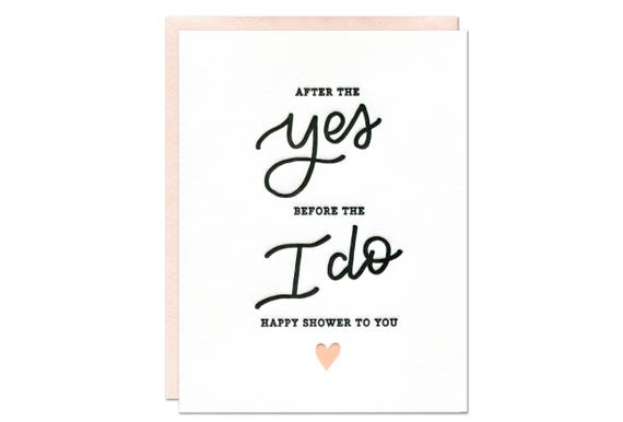 Gift Card Wedding Shower: Happy Bridal Shower Card / Wedding Shower Card / Bride To Be