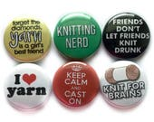 Lustige stricken Sprüche auf Pins - Magneten für Strickerinnen - beste stricken Geschenk (5. Satz)