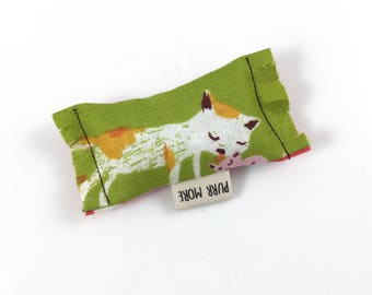 Momma Cat And Kitten Green Bean Organic Eco Friendly Catnip Cat Toy For Mew