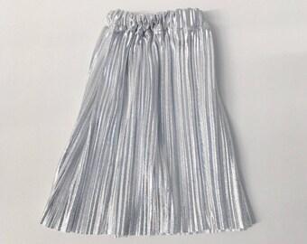 doll skirt silver