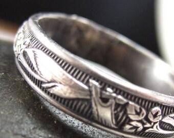 SUMMER SALE Floral Sterling Ring