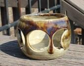 Goddess Symbol votive holder - Brown