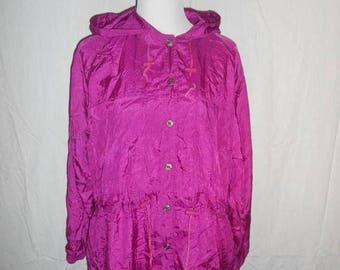Closing Shop 40%off SALE Vintage Clothing womens windbreaker wind breaker jacket coat   L large