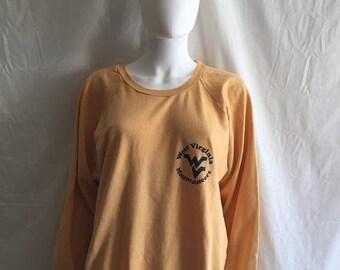 Closing Shop 40%off SALE West Virginia Mountaineers  Sweatshirt 70s 80s    XL