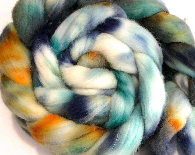 Kettle Dyed Cheviot Wool top. Roving.  Spin or felt. Soft and easy to work with. 1lb. Braid. Bill