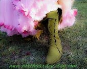 Brown Mid calf Handmade Earthgarden Boots with rubber soles