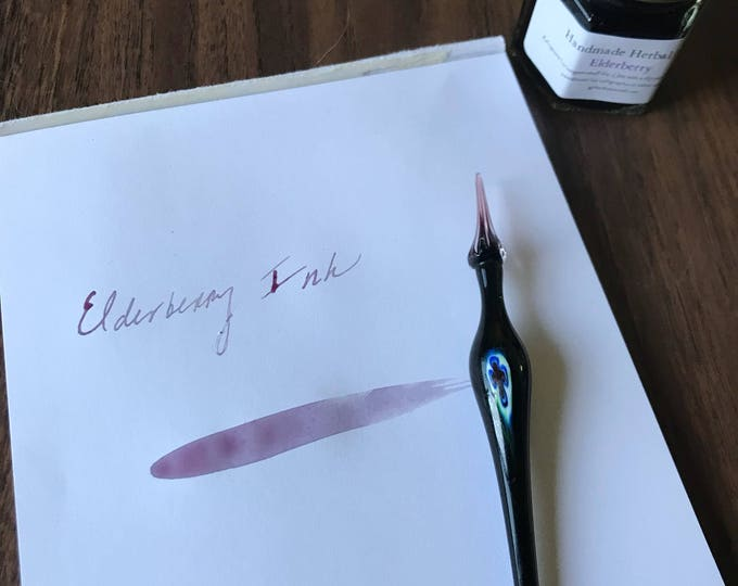 Elderberry Ink - all natural botanical ink for writing, drawing, painting, calligraphy