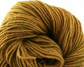 Hand Dyed Aran weight mini Empire Rambouillet Wool 213 yds 4oz Harvest Gold