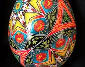 Over The Rainbow Pysanka Pysanky Batik Ukrainian Style Easter Egg