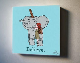 "Believe in Bob  8""x8"" Canvas Reproduction"