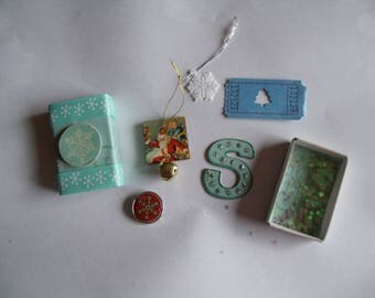 Snowflake Matchbox with 5 Goodies Inside/Decoration/Stocking Stuffer/Gift
