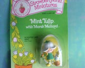 Vintage Strawberry Shortcake Mint Tulip Marsh Mallard Strawberryland miniatures