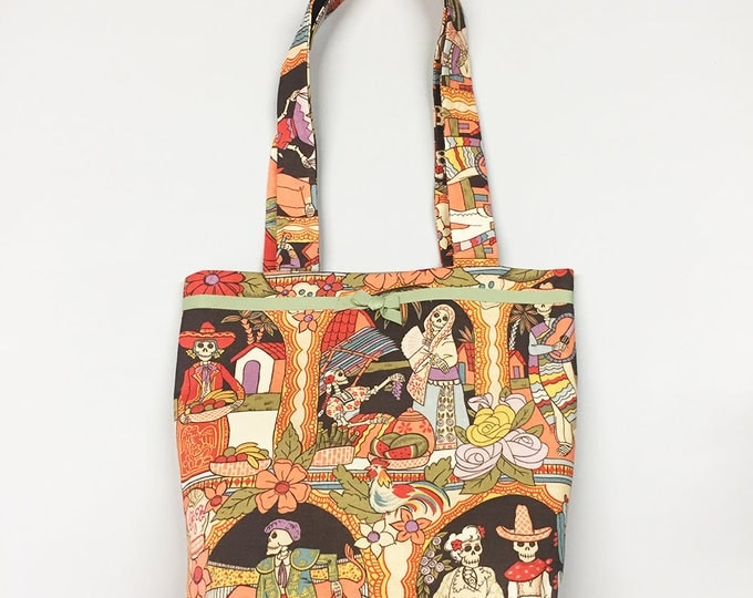 Tote Bag - Day of the Dead - Brown