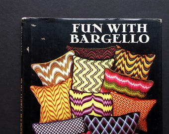 Fun with Bargello by Mira Silverstein, 70s Vintage Embroidery Book, Flame Stitch, Florentine Needlepoint, Geometric Patterns, Craft Book