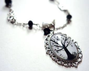 Vintage necklace, tree of hearts COV100A