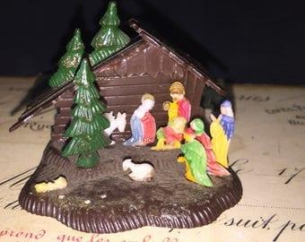 Vintage Miniature Nativity Scene