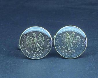 Poland  coin cufflinks 18mm.